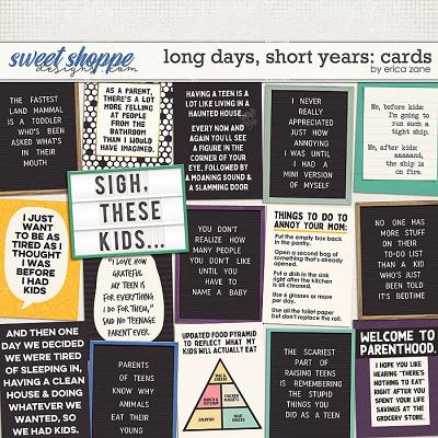 Long Days, Short Years: Cards by Erica Zane