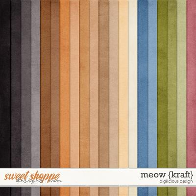 Meow {Kraft} by Digilicious Design