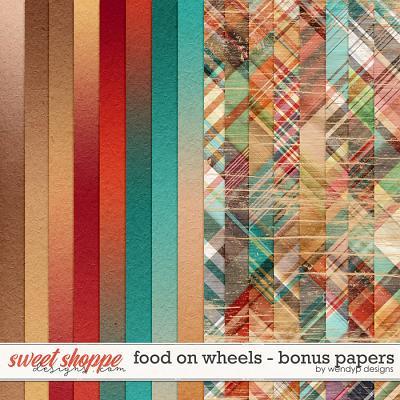 Food on wheels - bonus papers by WendyP Designs