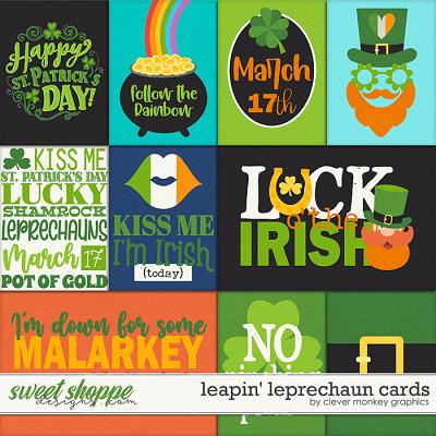 Leapn' Leprechaun Cards by Clever Monkey Graphics