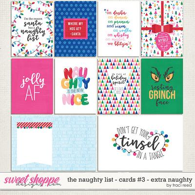 The Naughty List Journal Cards #3 - Extra Naughty by Traci Reed