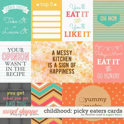 Childhood: Picky Eaters Cards by Heather Roselli & Sugary Fancy