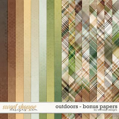 Outdoors - bonus papers by WendyP Designs