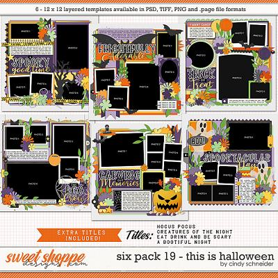 Cindy's Layered Templates - Six Pack 19: This is Halloween by Cindy Schneider