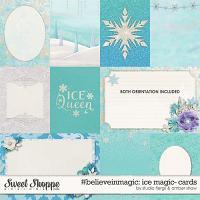 #believeinmagic: Ice Magic Cards by Amber Shaw & Studio Flergs