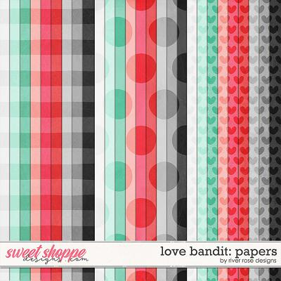 Love Bandit: Papers by River Rose Designs