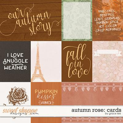 Autumn Rose: Cards by Grace Lee