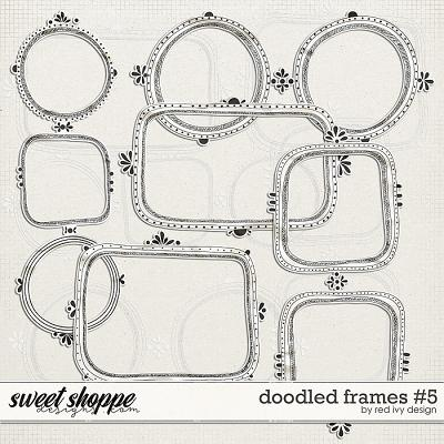 Doodled Frames #5 by Red Ivy Design
