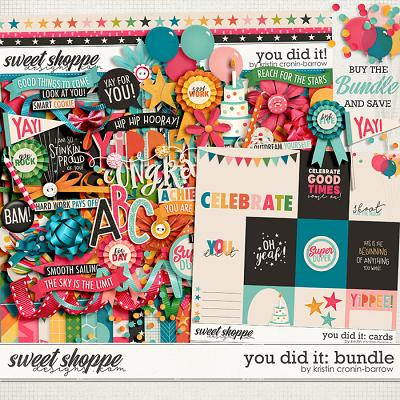 You Did It: Bundle by Kristin Cronin-Barrow