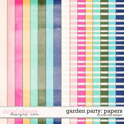 Garden Party: Papers by River Rose Designs