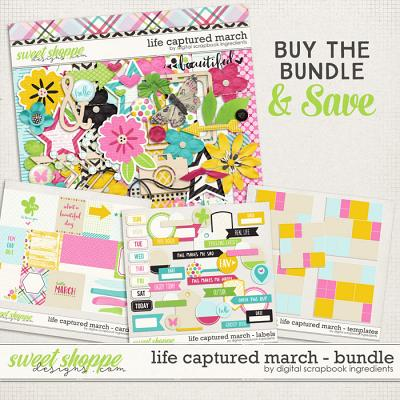 Life Captured March Bundle by Digital Scrapbook Ingredients
