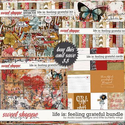 Life Is: Feeling Grateful Bundle by Studio Basic and Little Butterfly Wings