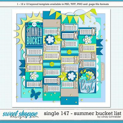 Cindy's Layered Templates - Single 147: Summer Bucket List by Cindy Schneider