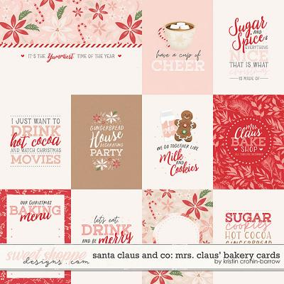 Santa Claus and Co: Mrs. Claus' Bakery Cards by Kristin Cronin-Barrow