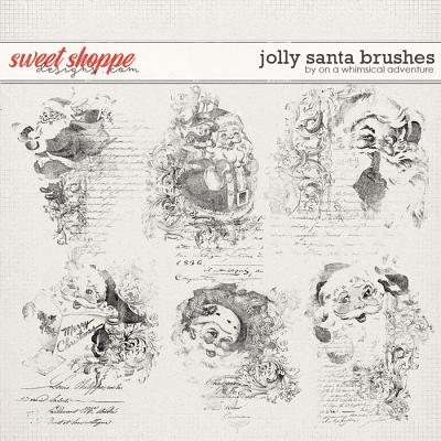 Jolly Santa Brushes by On A Whimsical Adventure
