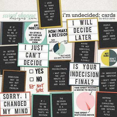 I'm Undecided: Cards by Erica Zane