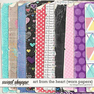 Art from the heart {worn papers} by Blagovesta Gosheva