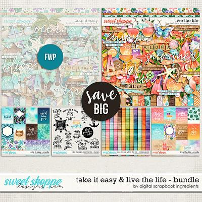 Take It Easy & Live The Life Bundle by Digital Scrapbook Ingredients