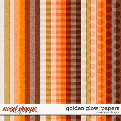 Golden Glow: Papers by River Rose Designs