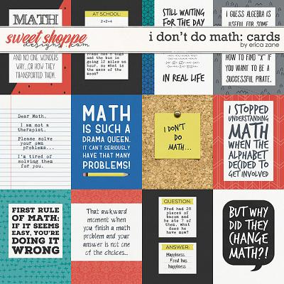 I Don't Do Math Cards by Erica Zane