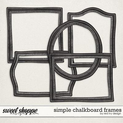 Simple Chalkboard Frames by Red Ivy Design