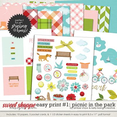 Picnic in the Park: Easy Print Pack 1 by Amber Shaw & Kelly Bangs Creative