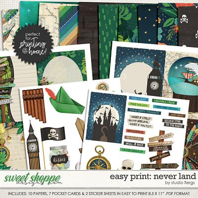 Easy Print: NEVER LAND by Studio Flergs