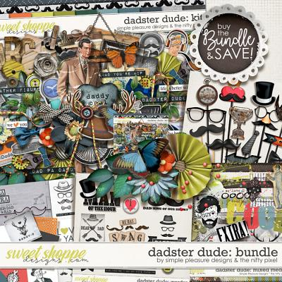 dadster dude bundle: the nifty pixel and simple pleasure designs by jennifer fehr