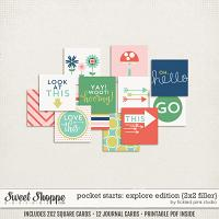 Pocket Starts: Explore Edition 2x2 Filler Cards by Tickled Pink Studio
