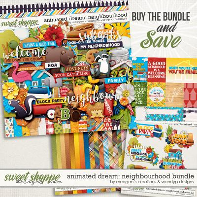 Animated Dream: neighbourhood - bundle by Meagan Creations & WendyP Designs