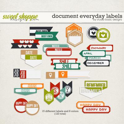Document Everyday Labels by Studio Basic