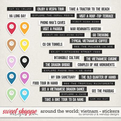 Around the world: Vietnam - Stickers by Amanda Yi & WendyP Designs