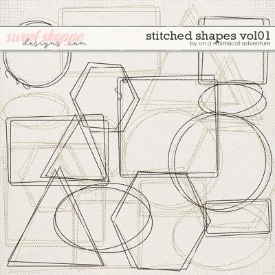Stitched Shapes Vol01 by On A Whimsical Adventure