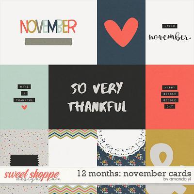 12 Months: November Cards by Amanda Yi
