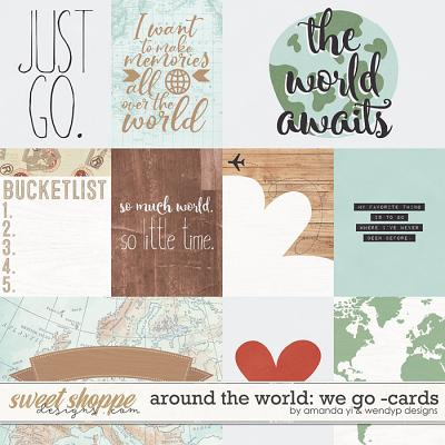Around the world: We Go - Cards by Amanda Yi & WendyP Designs