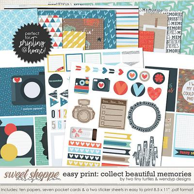 Easy Print :: Collect Beautiful Memories by Two Tiny Turtles & WendyP Designs