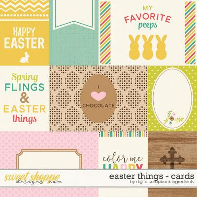 Easter Things | Journal Cards by Digital Scrapbook Ingredients