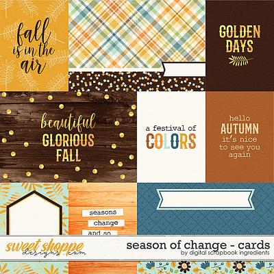Season Of Change | Cards by Digital Scrapbook Ingredients