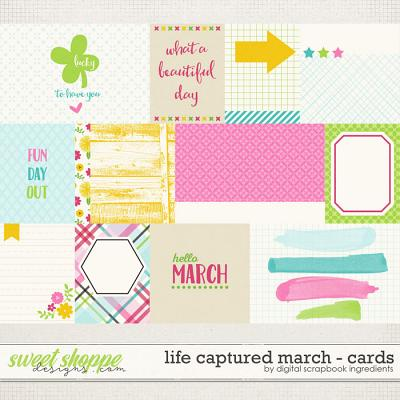 Life Captured March | Journal Cards by Digital Scrapbook Ingredients
