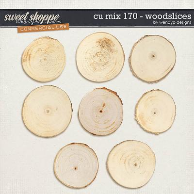 CU Mix 170 - wood slices by WendyP Designs