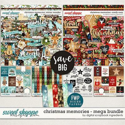 Christmas Memories Mega Bundle & *FWP* by Digital Scrapbook Ingredients