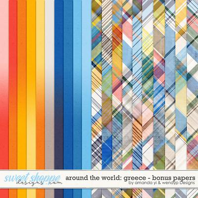 Around the world: Greece - Bonus Papers by Amanda Yi & WendyP Designs