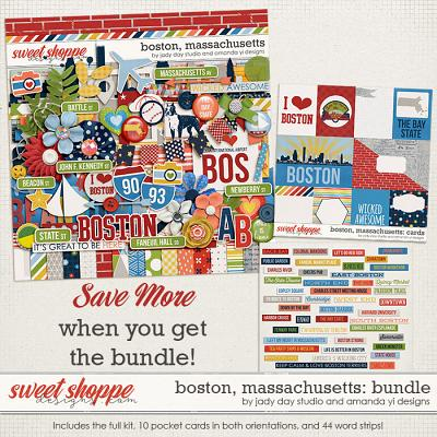 Boston, Massachusetts : Bundle by Jady Day Studio & Amanda Yi
