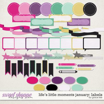 Life's Little Moments January Labels by Grace Lee