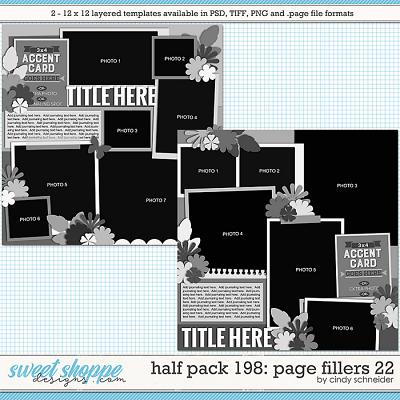 Cindy's Layered Templates - Half Pack 198: Page Fillers 22 by Cindy Schneider