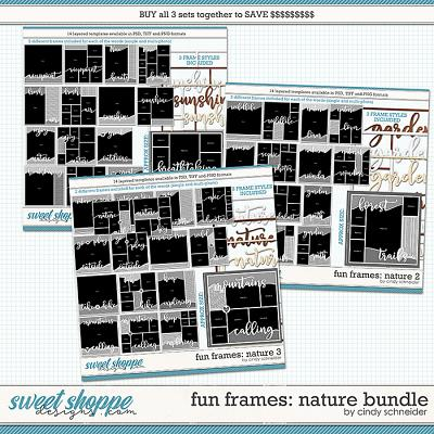 Cindy's Layered Templates - Fun Frames Nature Bundle by Cindy Schneider