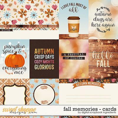 Fall Memories | Cards by Digital Scrapbook Ingredients