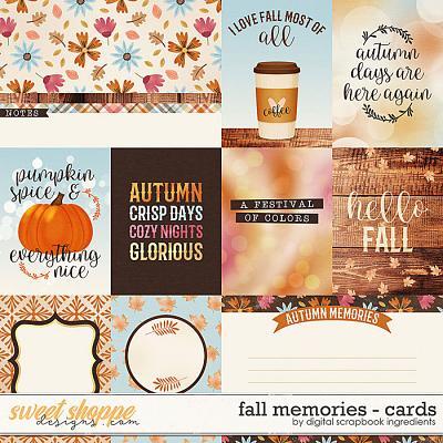 Fall Memories | Cards by Digital Scrapbook Ingredients