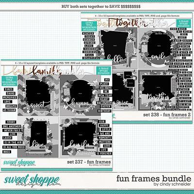 Cindy's Layered Templates - Fun Frames Bundle by Cindy Schneider