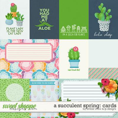 A Succulent Spring: Cards by Amber Shaw and LJS Designs